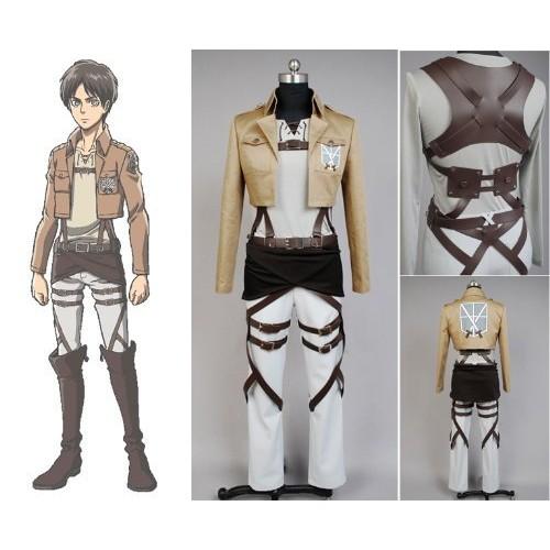 Shingeki no Kyojin Eren Jaeger Cosplay Costume