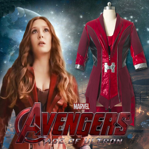 Avengers 2 Age of Ultron Scarlet Witch Cosplay Costume