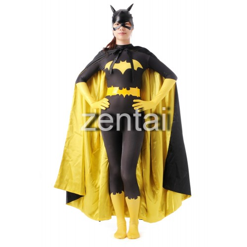 Black and Yellow Female Batman Spandex Lycra Zentai