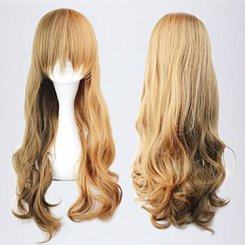 Brown Japanese Style 60cm Classic Lolita Wave Wig