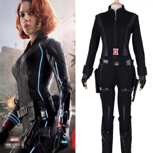 Captain America 2 Winter Soldier Cosplay Costume Black Widow Costume