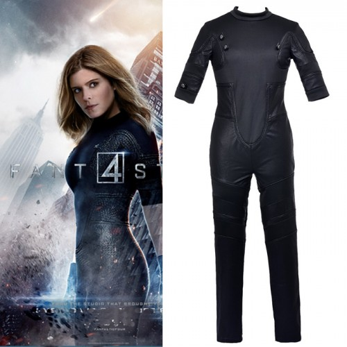 Fantastic Four Invisible Woman Cosplay Costume Outfit