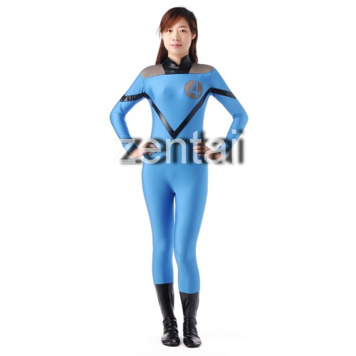 Fantastic Four Invisible Woman Susan Storm Cosplay Zentai Suit