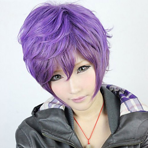 Fashion Zipper Purple 30 cm Punk Lolita Wig