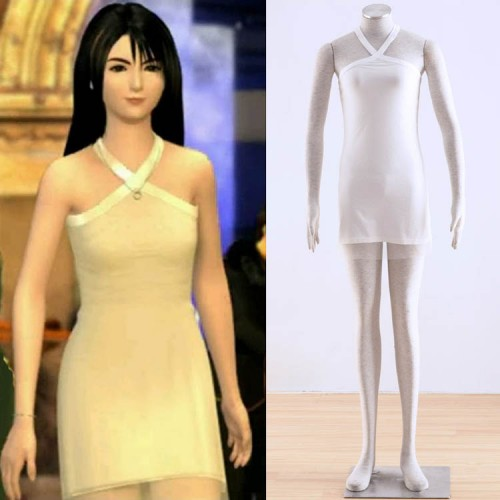 Final Fantasy VIII Rinoa Cosplay Costume White Dress