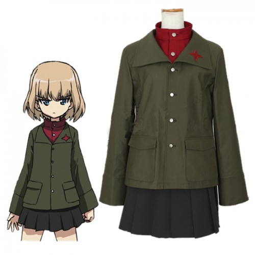 GIRLS und PANZER Cosplay Costume カチューシャ Katyusha Costume School Uniforms