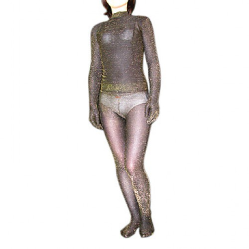 Golden Shiny Velvet Full Body Zentai