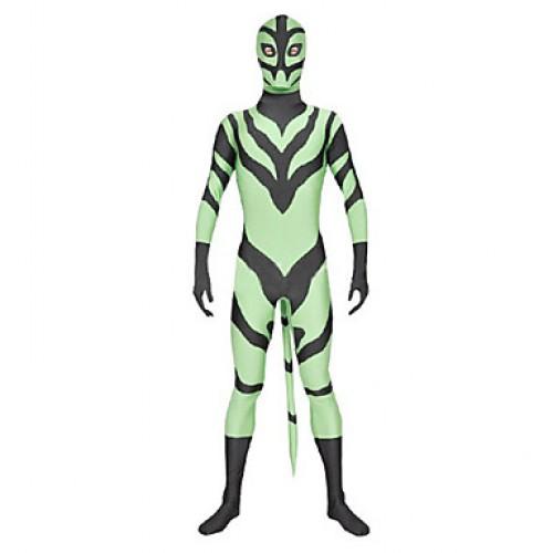 Green Black Spandex Lycra Zentai Suit