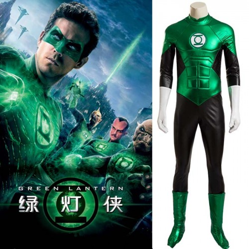 Green Lantern Cosplay Costume Leotard