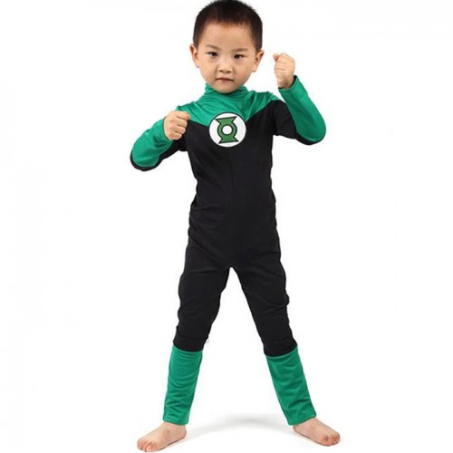 Green Lantern Cosplay Costume Leotard Kid
