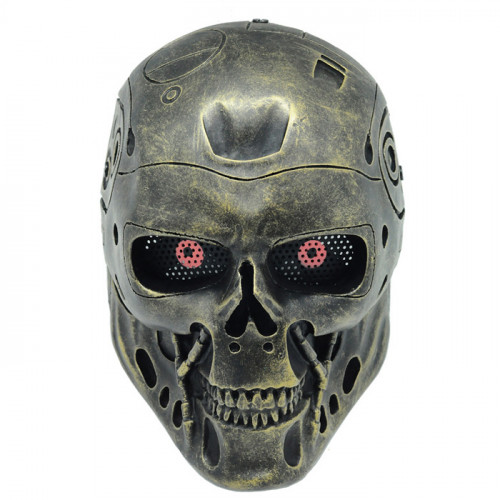 GRP Mask Movie The Terminator Cosplay Mask T-800 Robot Mask Glass Fiber Reinforced Plastics Mask