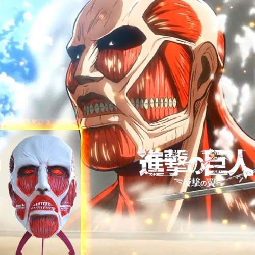 Halloween Attack On Titan Cosplay Mask Shingeki no Kyojin Latex Mask