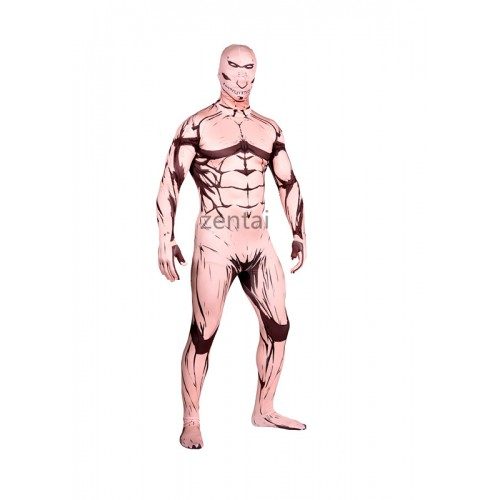 Halloween Attack on Titan Full Body Lycra Muscle Zentai Suit