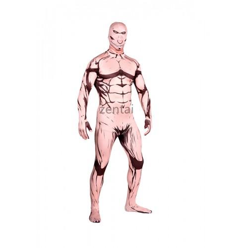 Halloween Attack on Titan Full Body Lycra Muscle Zentai Suit