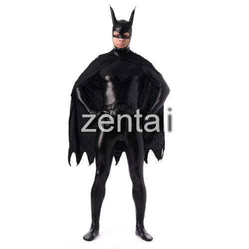 Halloween Batman Full Body Shiny Metallic Zentai