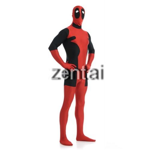 Deadpool Wade Wilson Full Body Spandex Lycra Zentai Suit