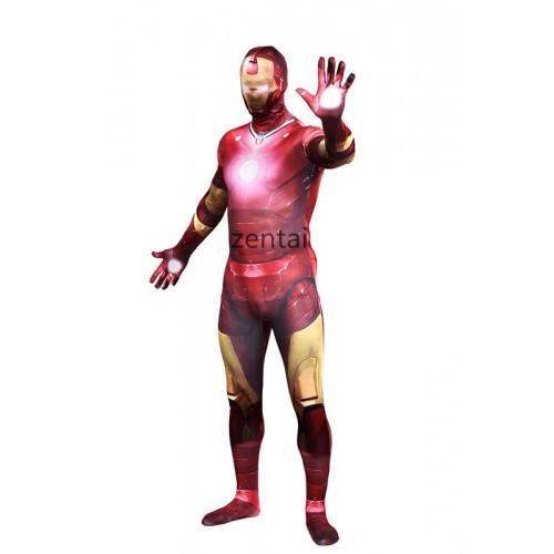 Ironman Full Body Red Spandex Lycra Zentai Suit