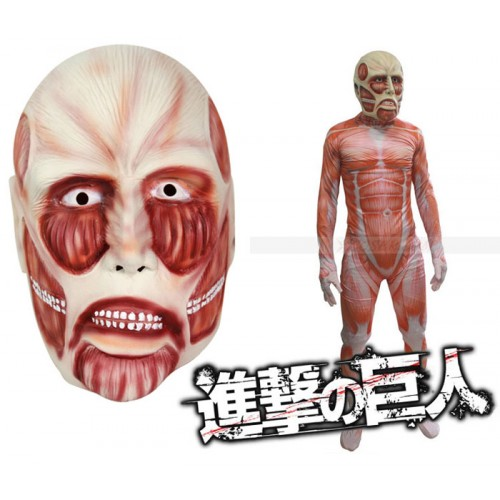 Halloween Shingeki no Kyojin Latex Mask Attack On Titan Cosplay Mask