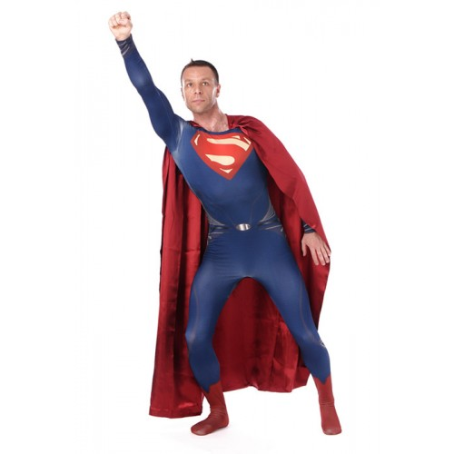 Superman Full Body Blue Zentai Suit