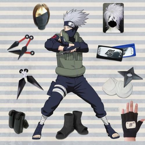 Naruto Costume Ninja Hatake Kakashi Cosplay Costume