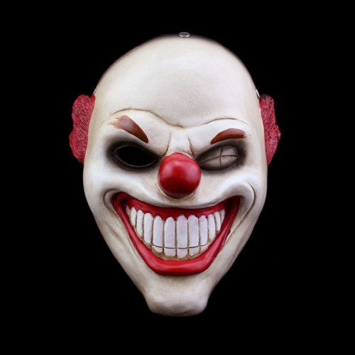 Payday 2 Horror Mask Red Nose Clown Cosplay Mask