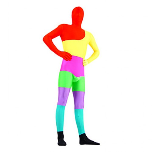 Rainbow Mixed Color Lycra Zentai