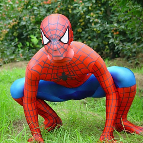 Red and Blue Lycra Full Body Spiderman Zentai