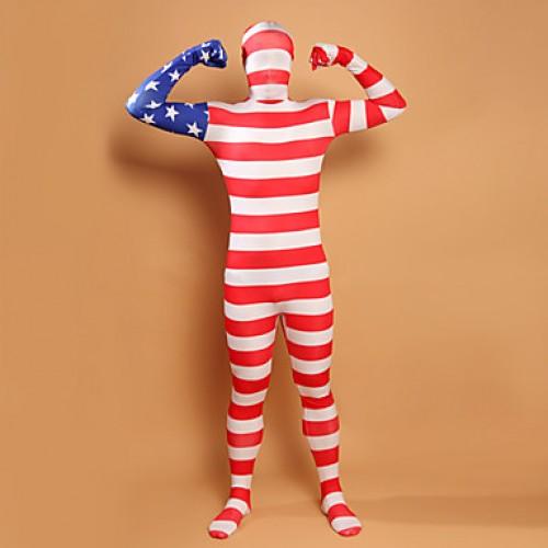 Stars and Stripes USA Flag Lycra Full Body Zentai