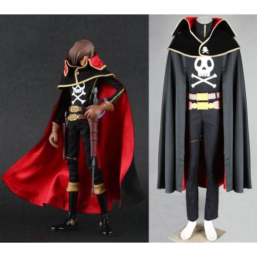 Space Pirate Captain Harlock Cosplay Costume