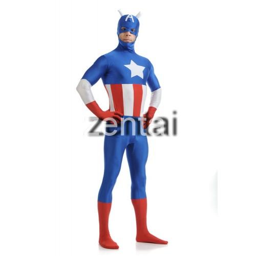 Captain America Spandex Lycra Zentai Suit