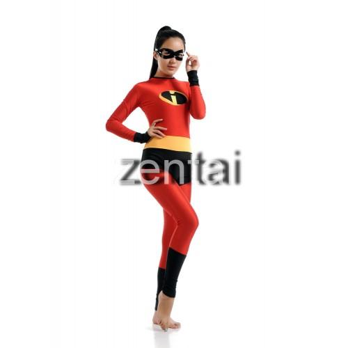 The Incredibles Helen Parr Elastigirl Full Body Spandex Lycra Zentai Suit