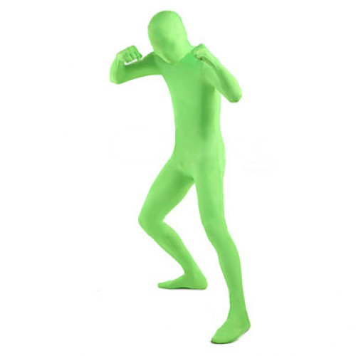Unisex Green Lycra Full Body Zentai Suit