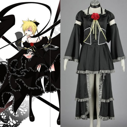 Vocaloid Family Alluring Secret Black Vow Kagamine Rin Cosplay Costume