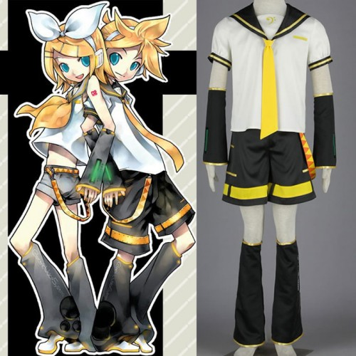 Vocaloid 2 Kagamine Len Cosplay Costume Outfit
