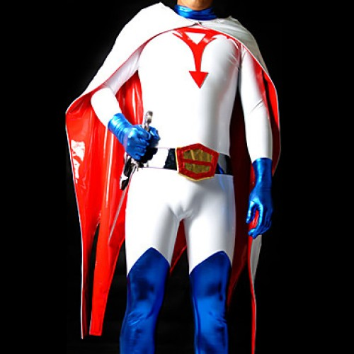 White Shiny Metallic Gatchaman Zentai