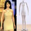 Final Fantasy VIII Rinoa Cosplay Costume White Dress Costume