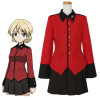 GIRLS und PANZER Cosplay Costume ダージリン Darjeeling Costume School Uniforms