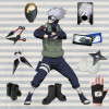 Naruto Costume Ninja Hatake Kakashi Cosplay Costume Full Set