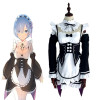 Re:Life in a different world from zero Cosplay Costume レム Rem Costume Maid Clothing
