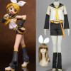 Vocaloid 1 Kagamine Rin Cosplay Costume Outfit