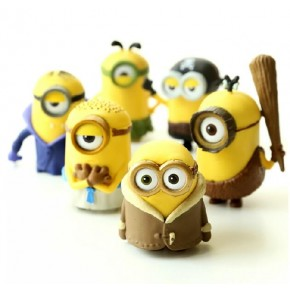 2015 Cartoon Movie Despicable Me Minions Figure Models Toys as Xmas Gift