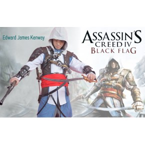 Assassin's Creed IV 4 Black Flag Edward Kenway Cosplay Costume
