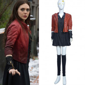 Avengers 2 Age of Ultron Scarlet Witch Cosplay Costume Wanda Maximoff Dress