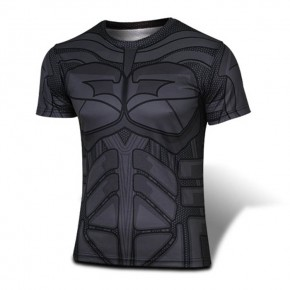 Batman Black T-shirt Round Collar T-shirt