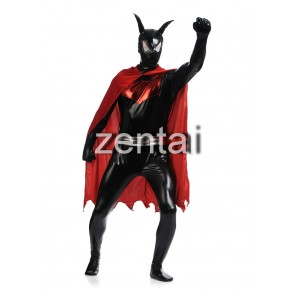 Full Body Shiny Metallic Batman Zentai