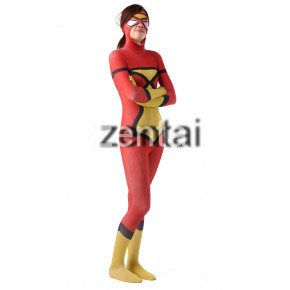 Batman Full Body Spandex Lycra Zentai Suit (Red and Yellow Color)