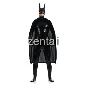 Black Batman Full Body Shiny Metallic Zentai