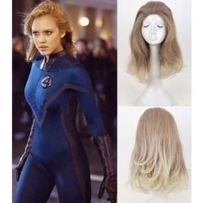 Fantastic Four Invisible Woman Sue Storm Medium Long Hair Wig