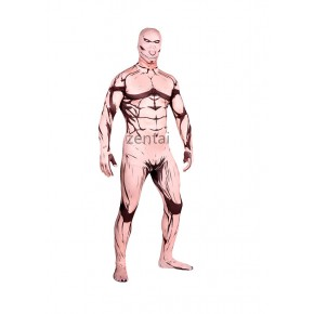 Halloween Attack on Titan(Shingeki no Kyojin) Eren Full Body Lycra Muscle Zentai Suit