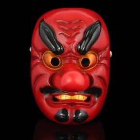 Japan Play Celestial Dog Mask With Big Nose for Collection and Halloween